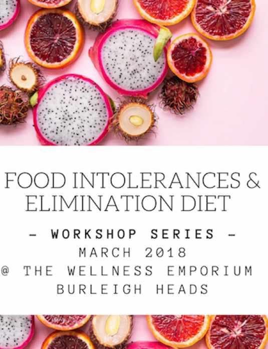 Food intolerances and elimination diet workshop
