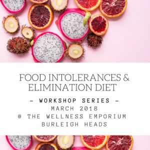 Food intolerances and elimination diet workshop series